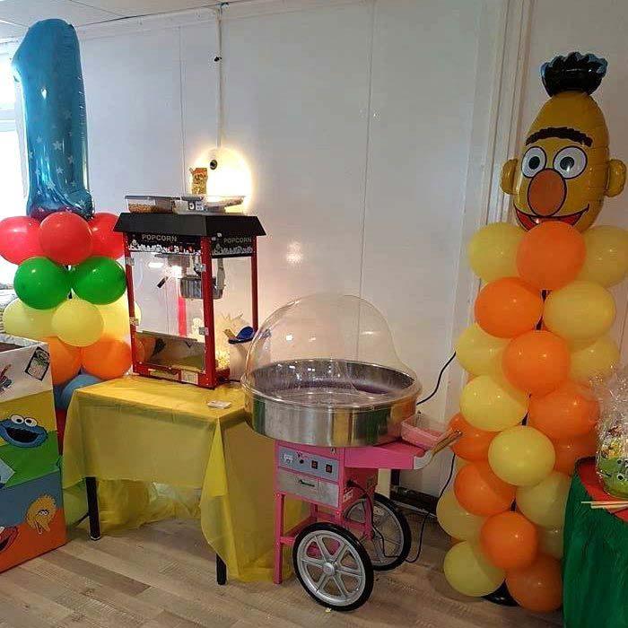feest popcornmachine suikerspinmachine huren verjaardag