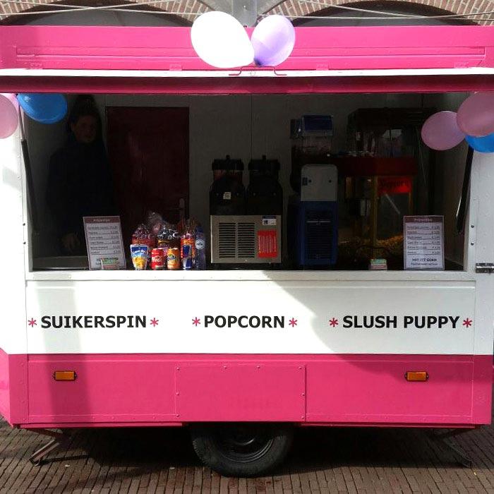 feestartikelen popcorn machine slush puppy machine suikerspinmachine huren